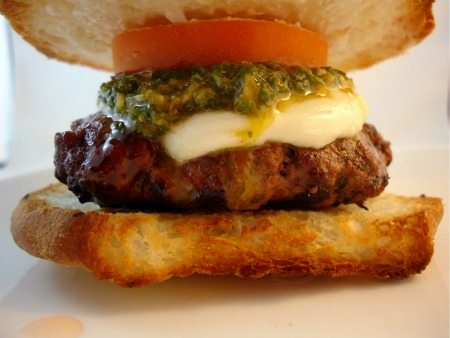 Gluten Free Burger with Chimichurri