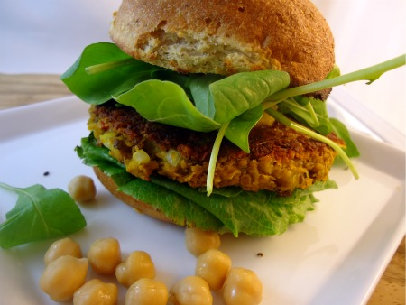 Gluten Free Vegan Chickpea Burger