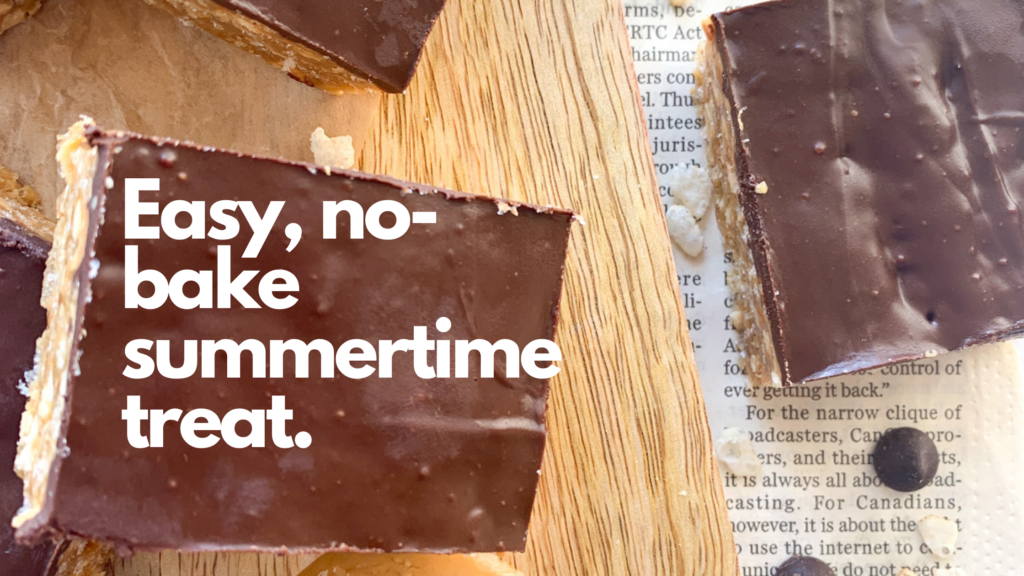 These easy to make gluten-free no bake O Henry Bars area sweet and crunchy square to make.