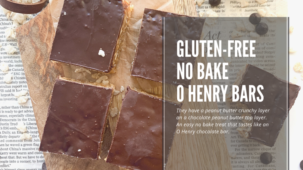 These easy to make gluten-free no bake O Henry Bars are a crunchy and sweet square.