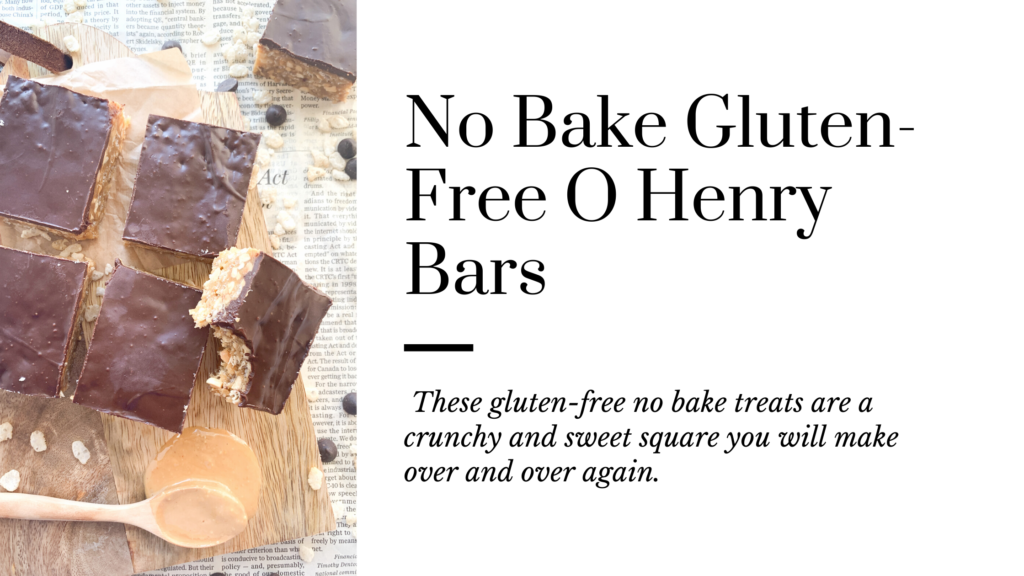These gluten-free no bake O Henry Bars are crunchy and sweet squares.