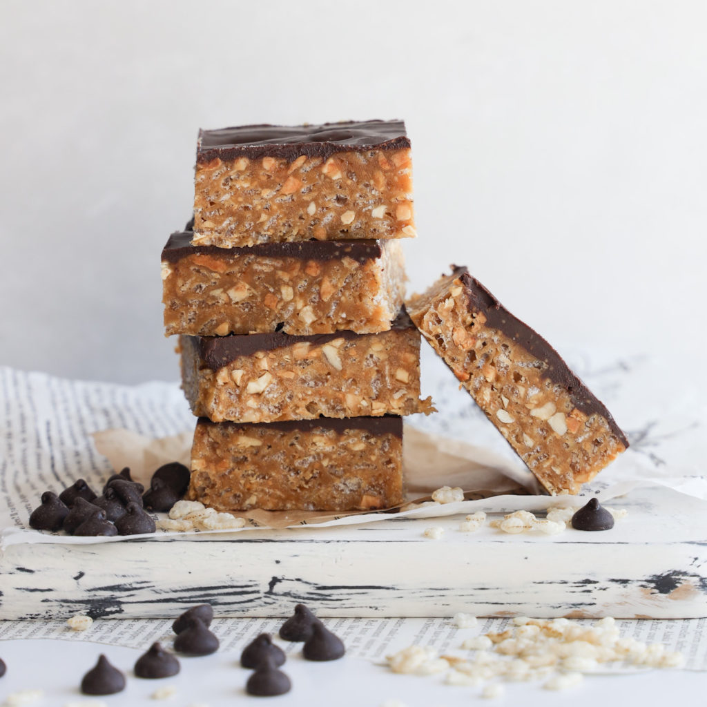These easy to make gluten-freer no bake O Henry Bars are crunchy and sweet squares.