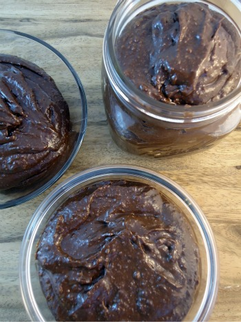 gluten free nutella with homemade granola