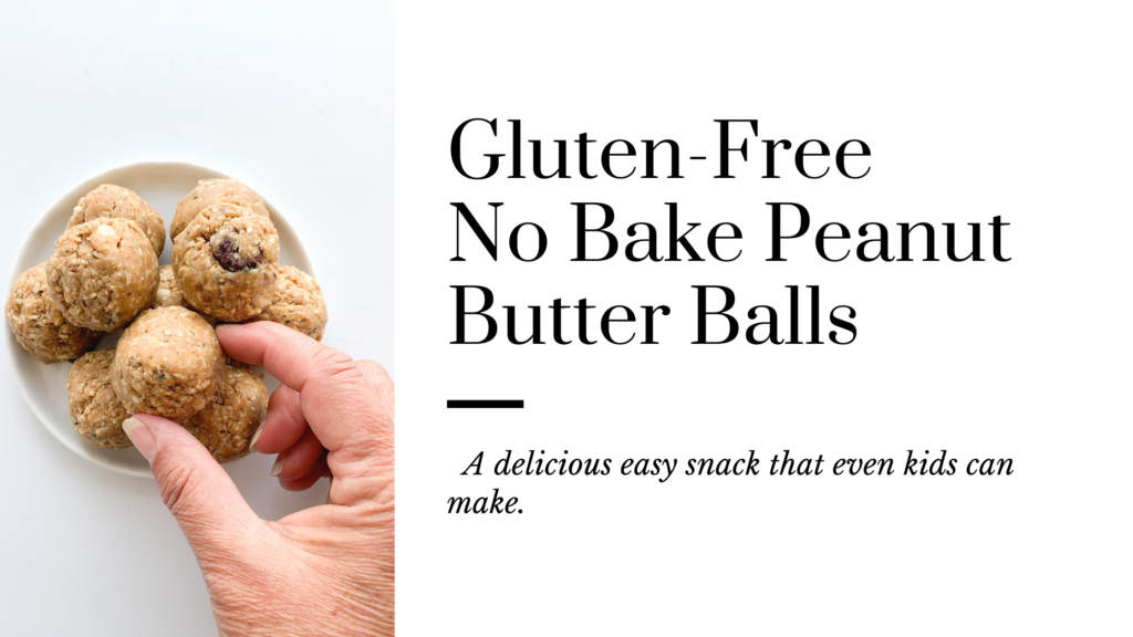 Gluten-free no bake peanut butter balls that are delicious and an easy snack even kids can make.