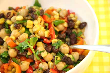 Gluten Free Chickpea and Bean Lime Salad