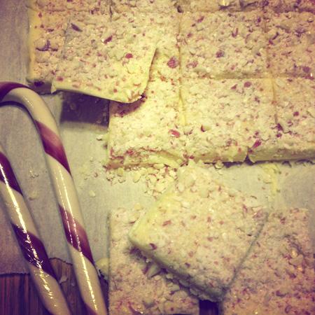 Gluten Free White Chocolate Peppermint Bark