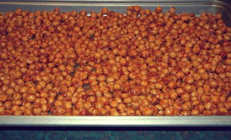 Gluten Free Spicy Roasted Chickpeas