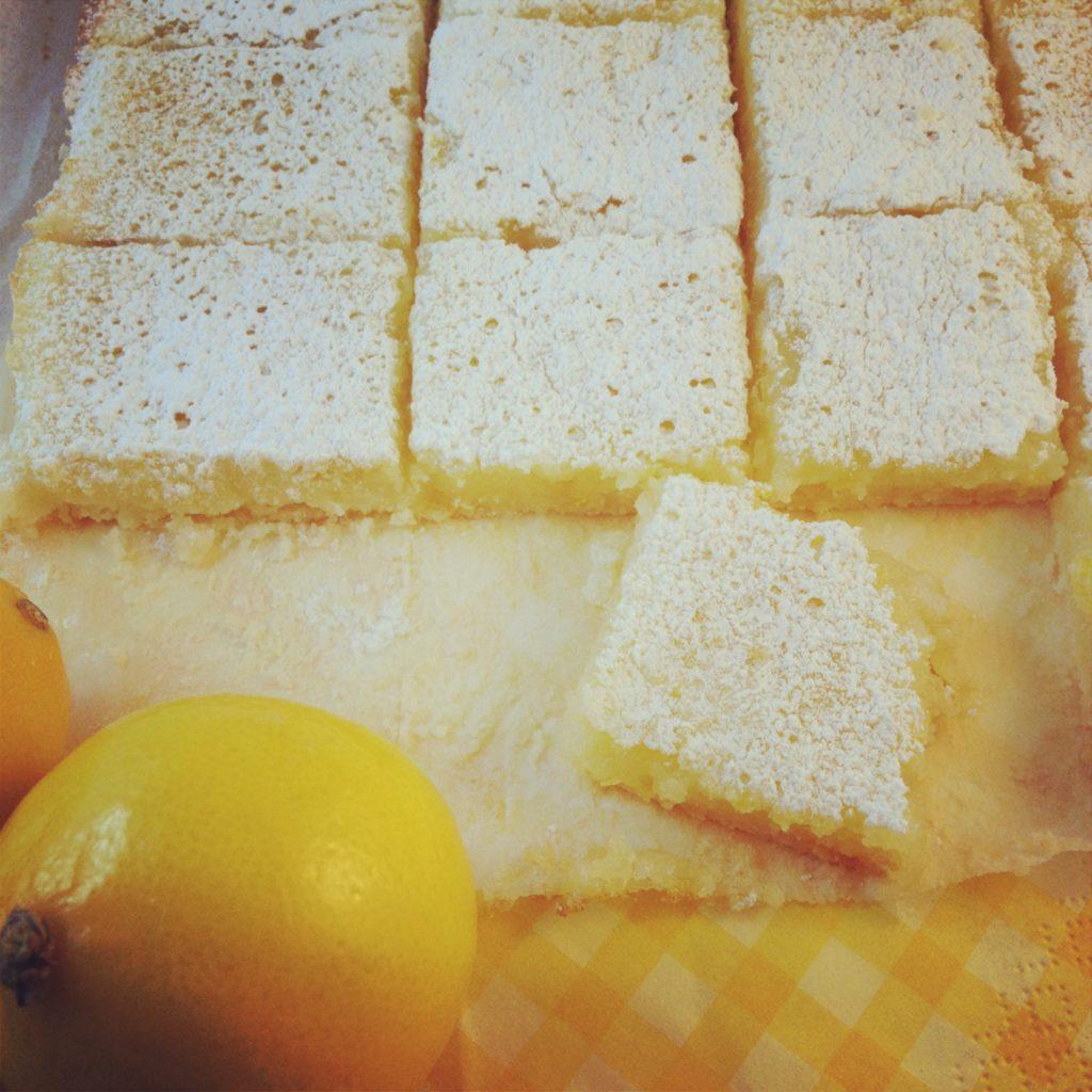 gluten free meyer lemon squares