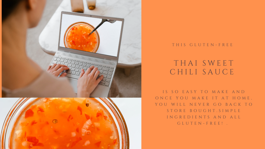 Sweet, spicy and tangy all at the same time. This gluten-free thai sweet chili sauce is an easy recipe that takes only 15 minutes to make.
