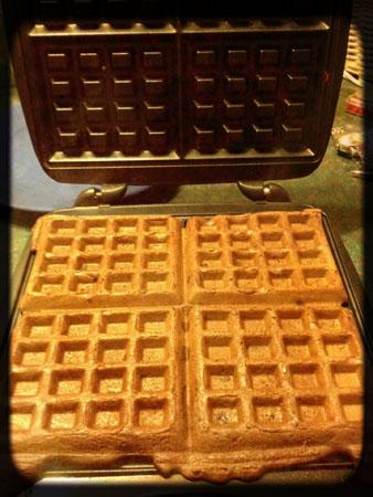 GF Double Chocolate Chip Waffles