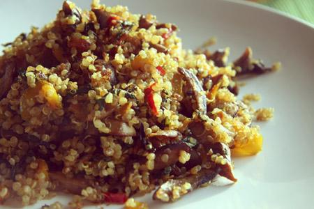Gluten Free Mushroom Quinoa