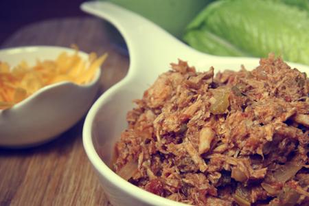 Buffalo Pork Lettuce Wraps