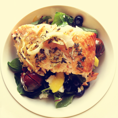 Blueberry Salmon Salad