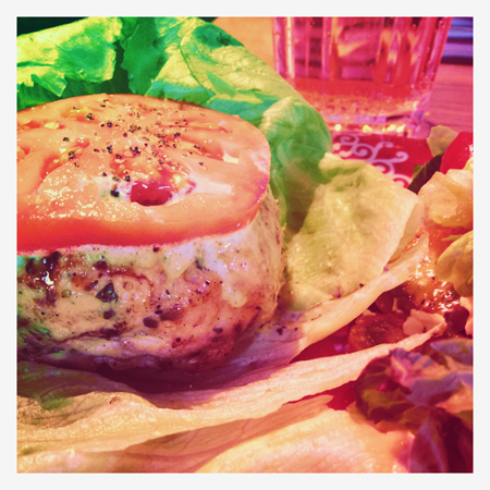 Stuffed Greek Chicken Burger