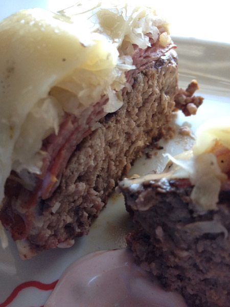 Gluten-Free Reuben Burgers with Gluten-Free Thousand Island Dressing