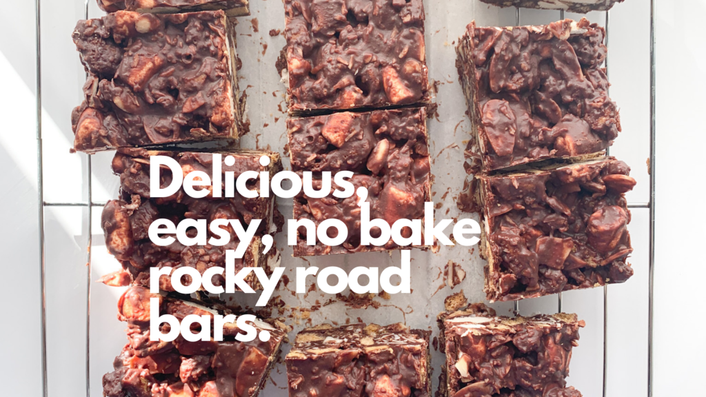 These gluten-free no bake rocky road squares are simply so easy to make and are the perfect recipe if you love chocolate and marshmallows.