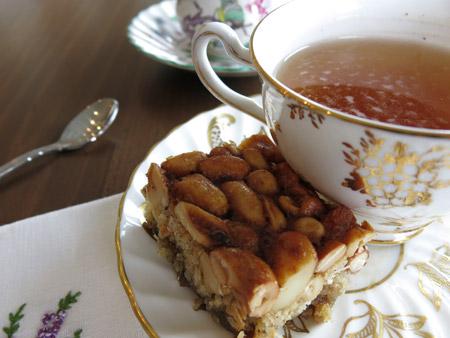 gluten free nut bars and tea