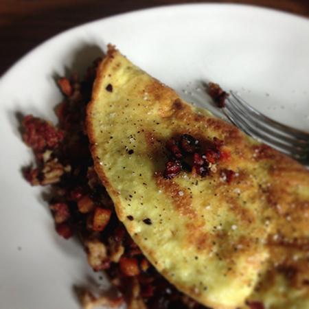 gluten free filled omelette recipe