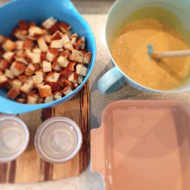gluten free pumpkin bread pudding recipe