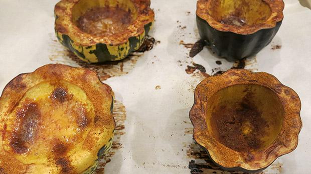gluten free roasted acorn squash