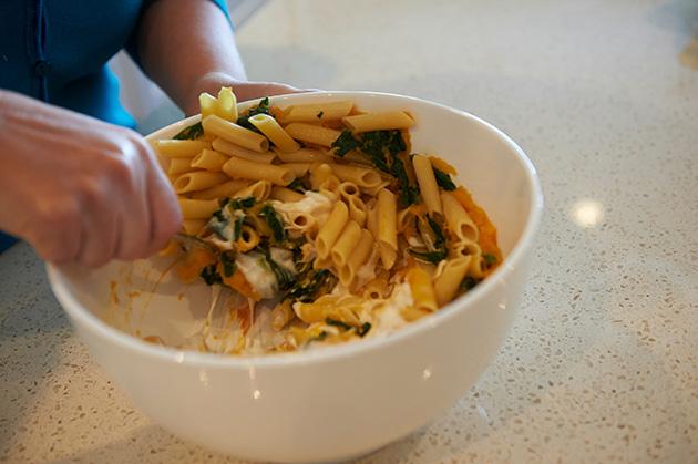 gluten free butternut squash spinach catelli pasta recipe