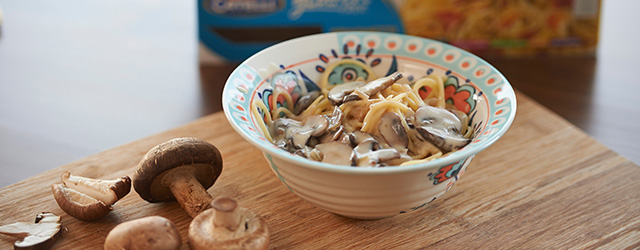 gluten free catelli three mushroom pasta recipe