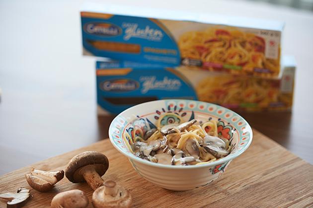 gluten free 3 mushroom pasta recipe