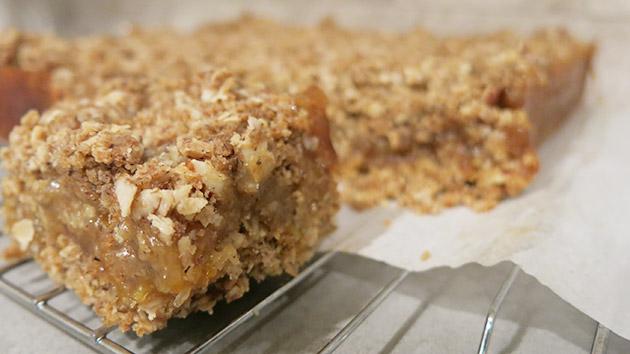gluten free elderflower marmalade oat bars