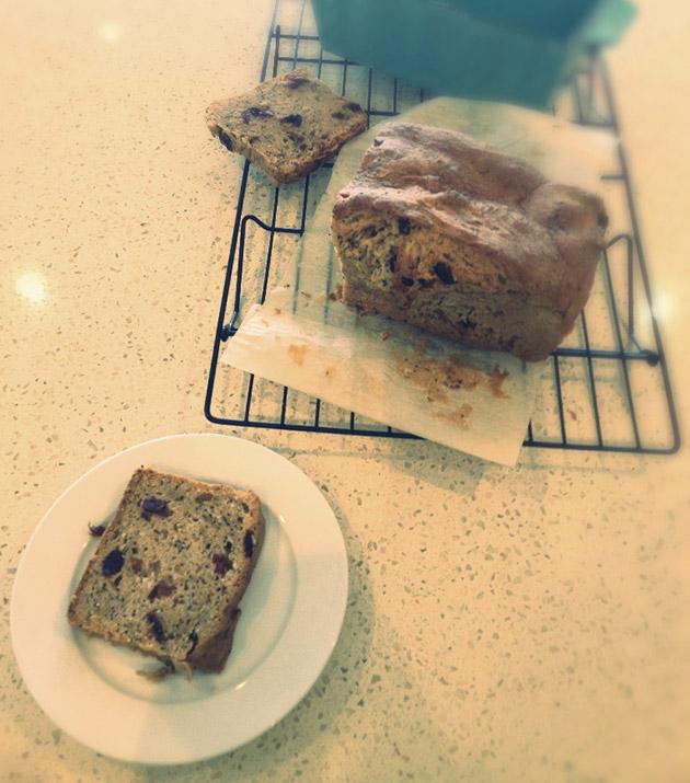 gluten free dairy free cranberry lemon poppyseed loaf recipe