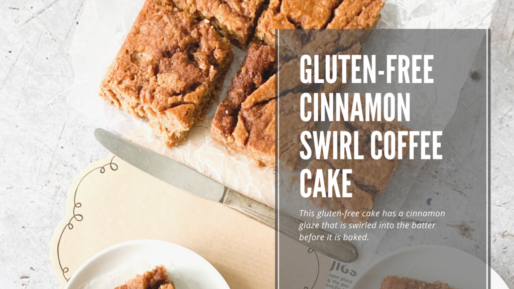 A gluten-free cinnamon swirl coffee cake that is a delicious homemade cake using ingredients you already have on hand.