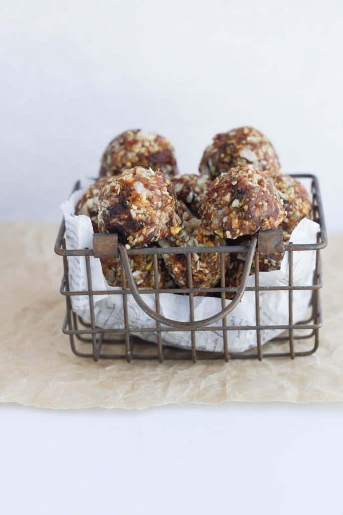 An easy to make gluten-free no bake bliss ball uses simple healthy ingredients.