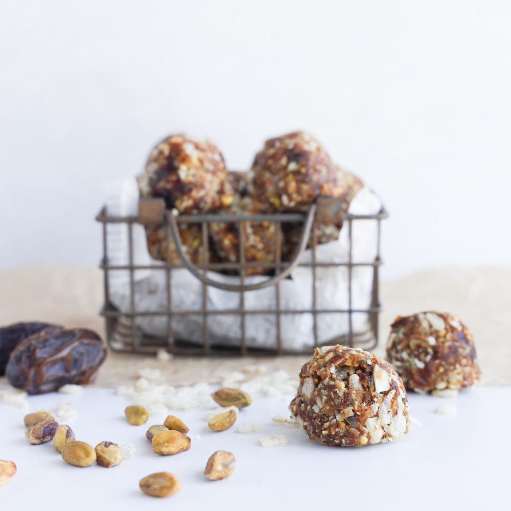 An easy to make gluten-free no bake bliss balls using healthy ingredients.