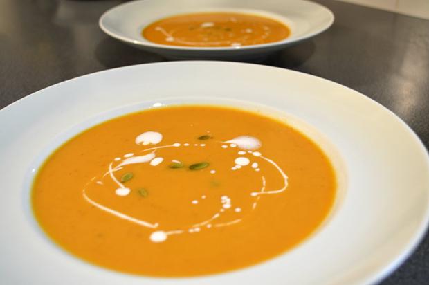 gluten free vegan pumpkin coconut soup recipe