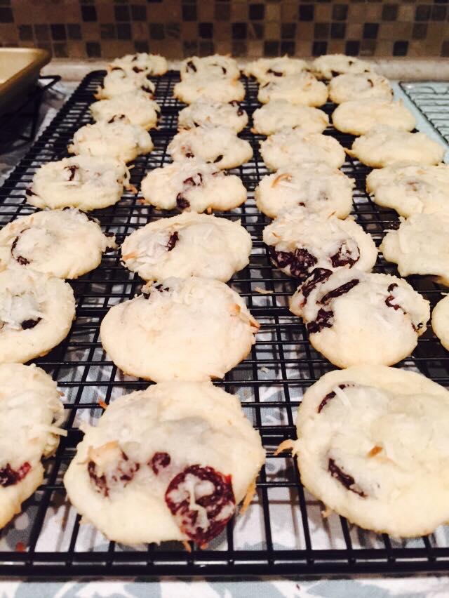 Gluten Free Dairy Free Coconut Cherry Cookies Recipe
