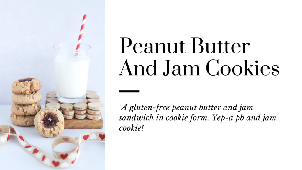 A gluten-free peanut butter and jam sandwich made into a cookie form.