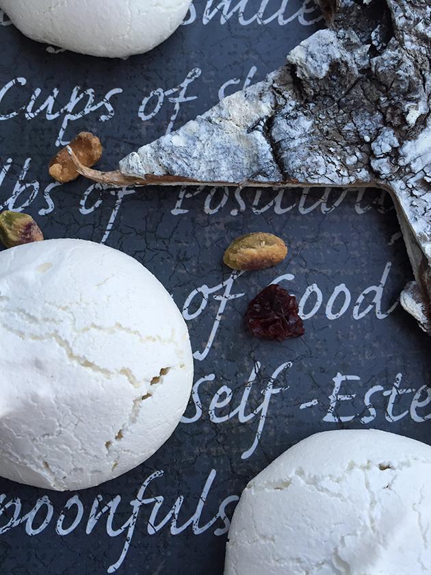 gluten free dairy free cherry pistachio meringue pillows recipe