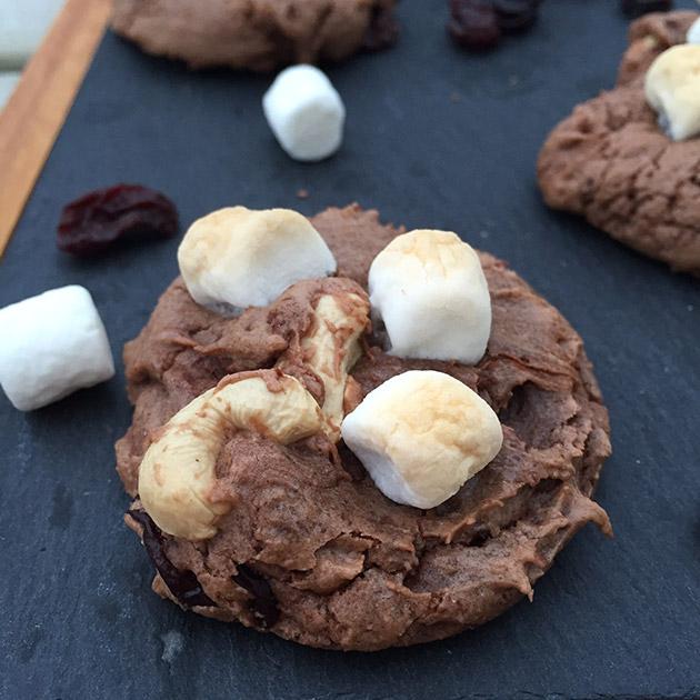 gluten free dairy free chocolate marshmallow cashew cookie recipe