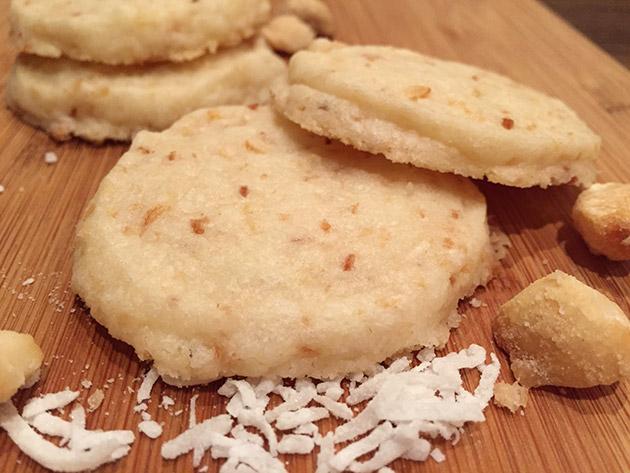 gluten free dairy free citrus coconut shortbread cookie recipe