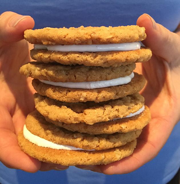 gluten free dairy free oatmeal peanut butter marshmallow sandwich recipe