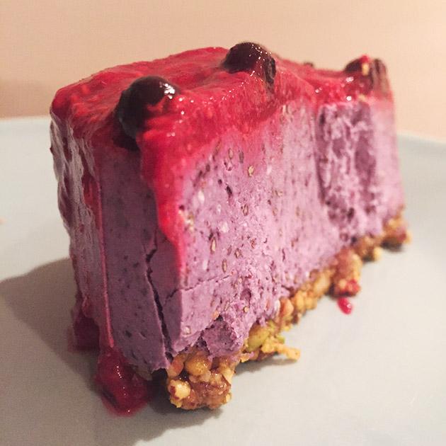 gluten free raw vegan raspberry cheesecake recipe