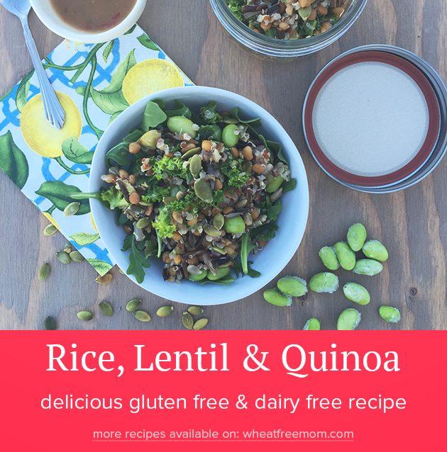 gluten free dairy free rice lentil quinoa salad recipe
