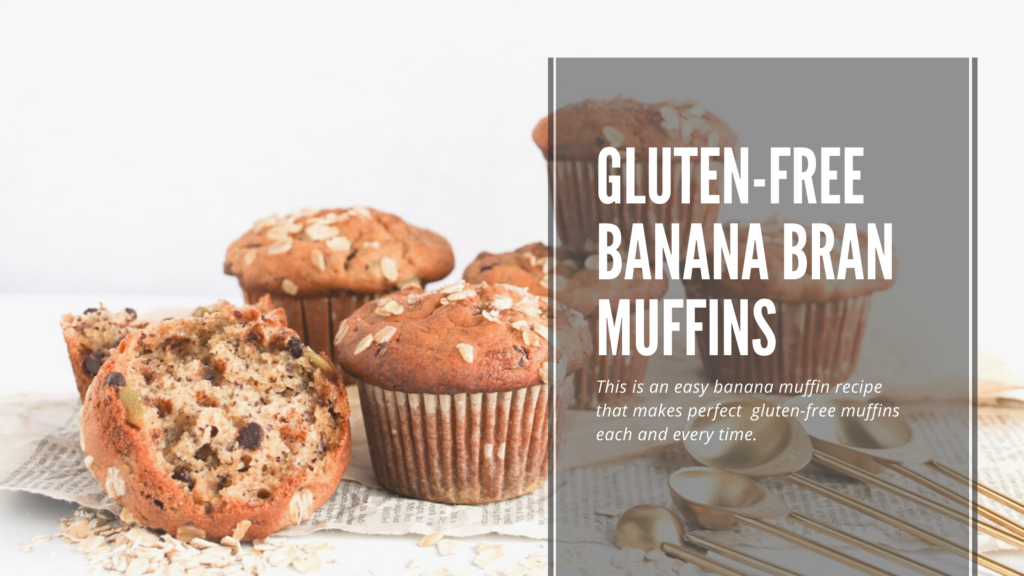 These gluten and dairy-free banana bran muffins are easy to make, use healthy ingredients and taste delicious.