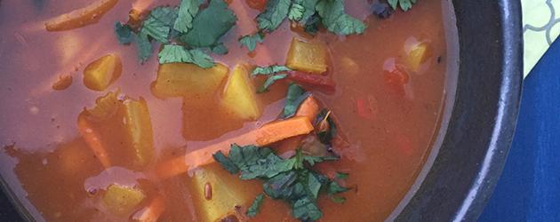 gluten free morrocan vegetables soup recipe