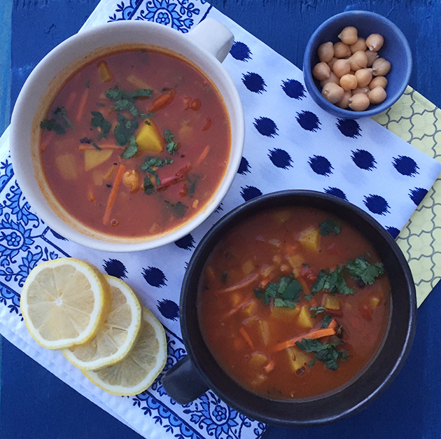 gluten free morrocan vegetables soup recipe