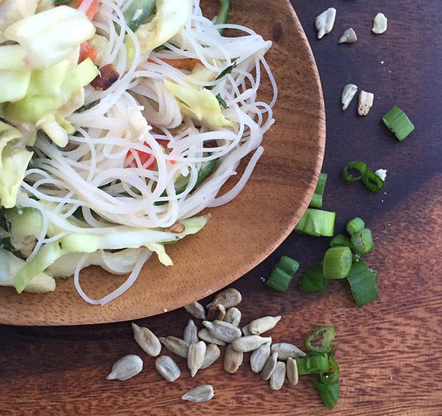 gluten free thai cabbage salad recipe