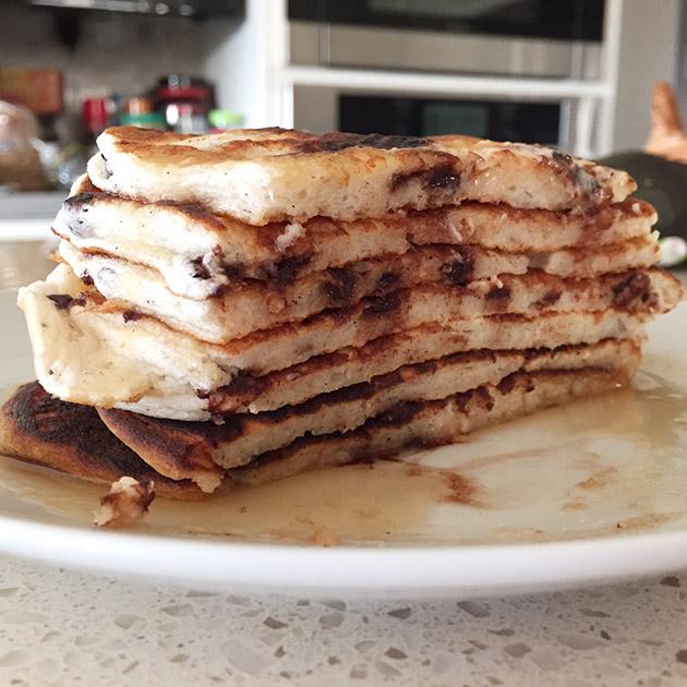 gluten free dairy free banana chocolate pancakes recipe