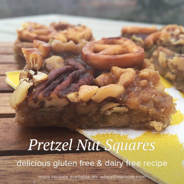 gluten free pretzel nut squares recipe