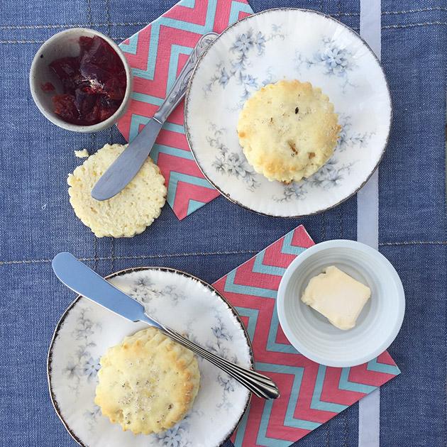gluten free lemon vanilla salted scones recipe