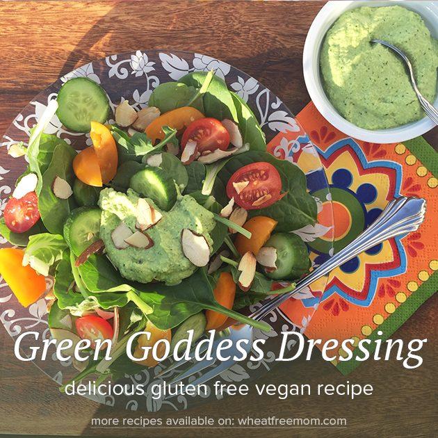 gluten free vegan green goddess dressing recipe