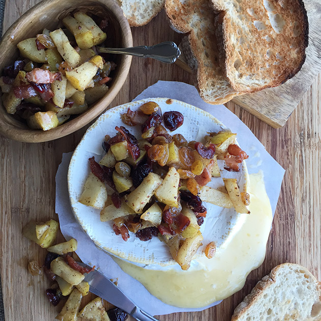 pear and bacon compote brie cheese recipe